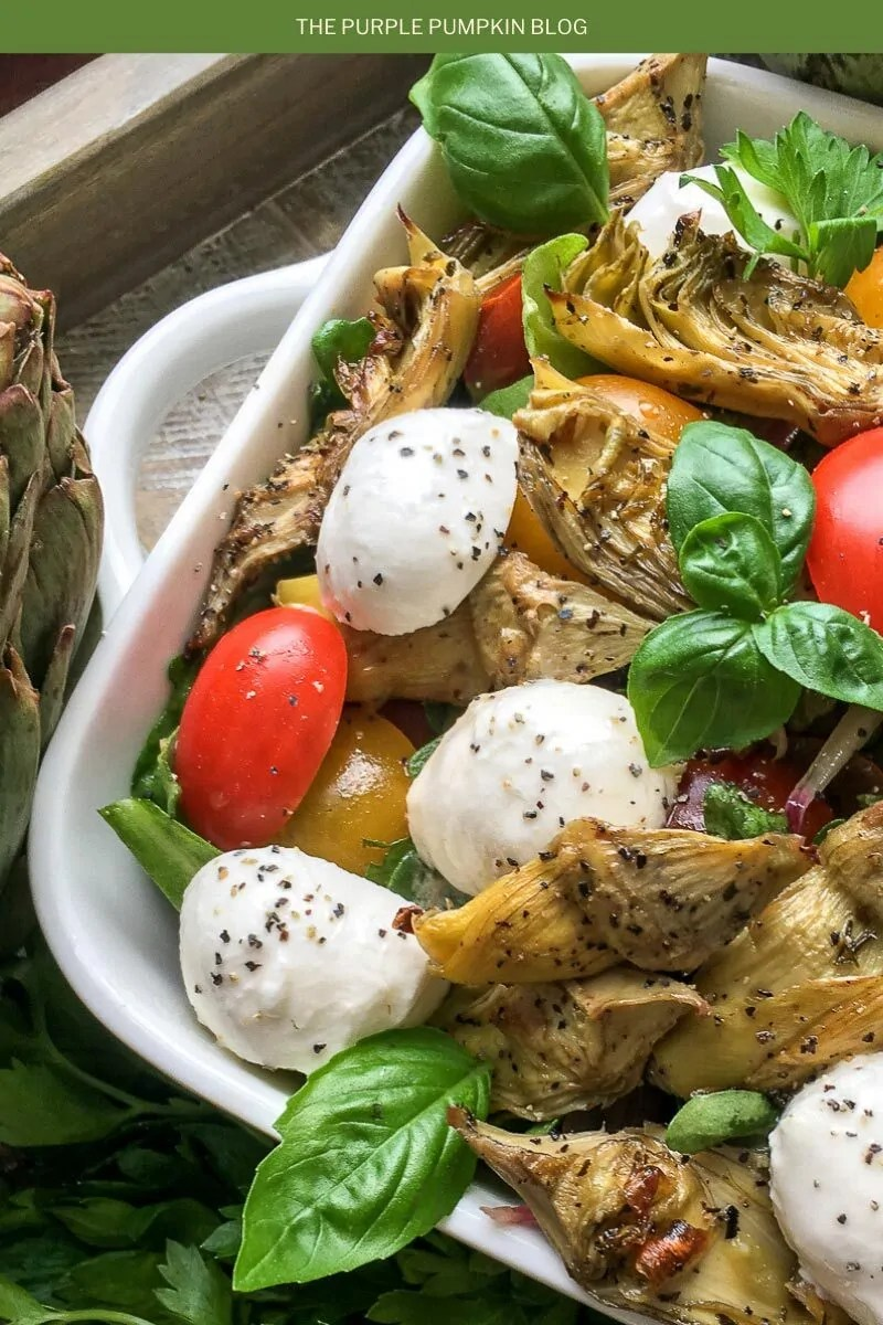Roasted Artichoke & Mozzarella Salad
