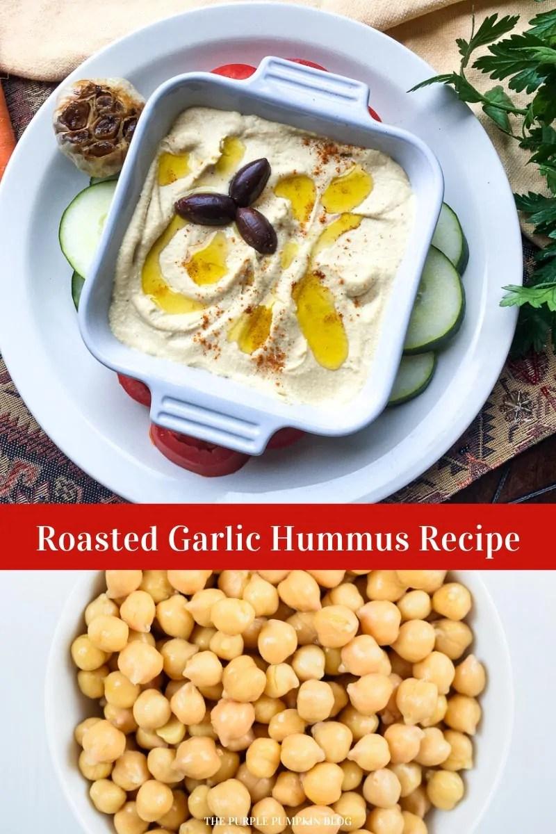 Roasted Garlic Hummus Dip