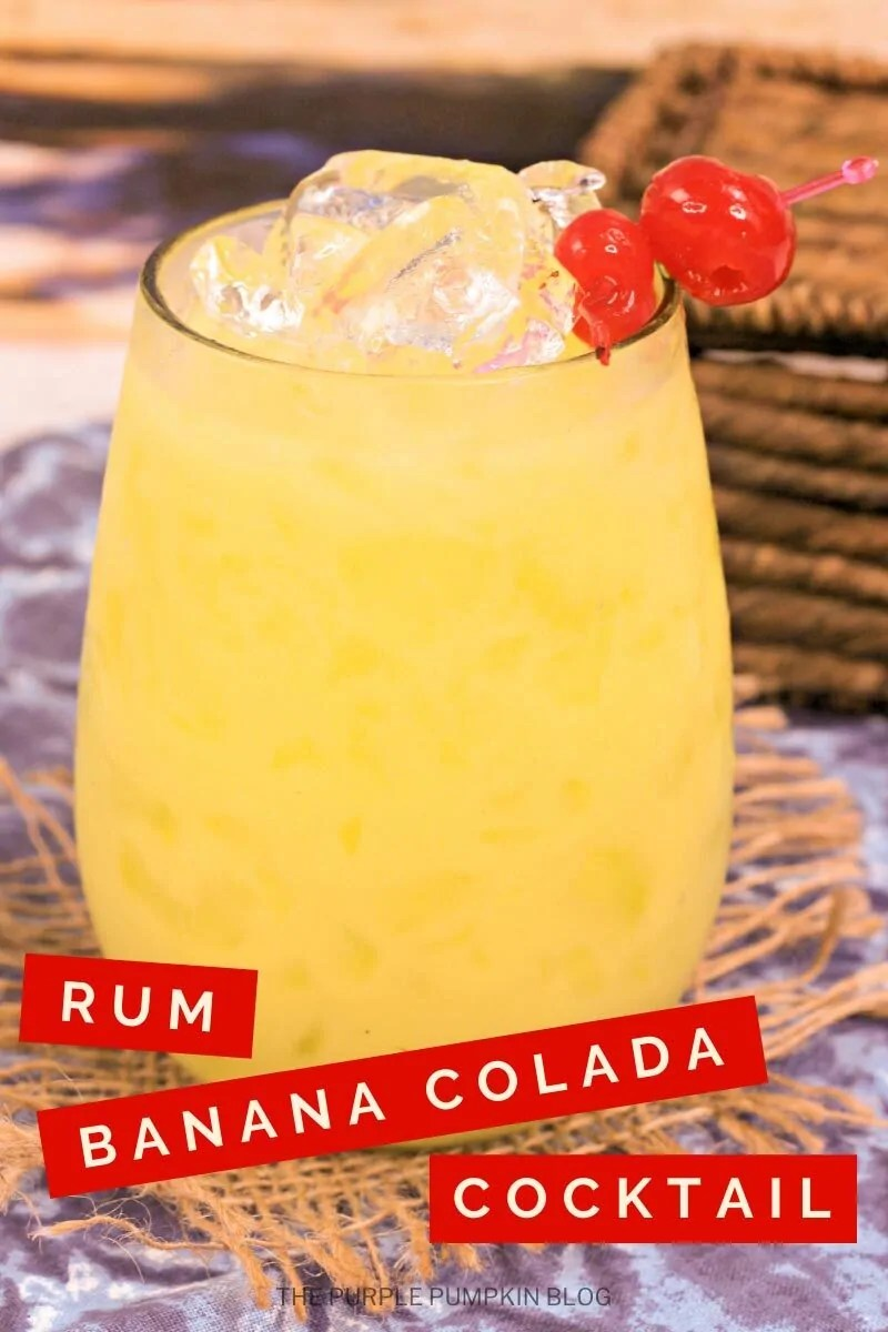 Rum Banana Colada Cocktail