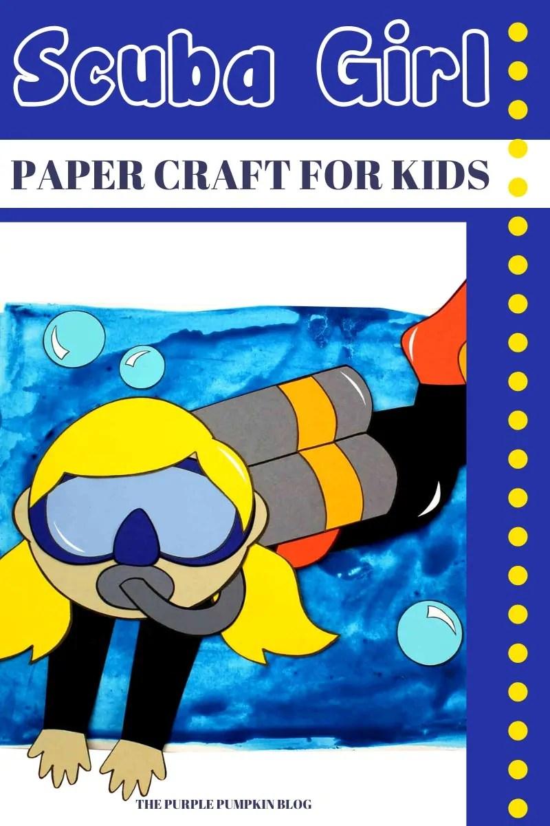 Scuba Girl Paper Craft for Kids