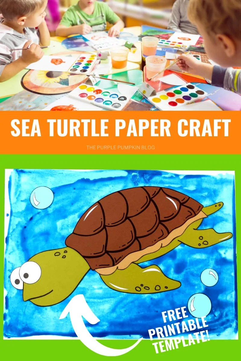 Sea Turtle Paper Craft - Free Printable Template
