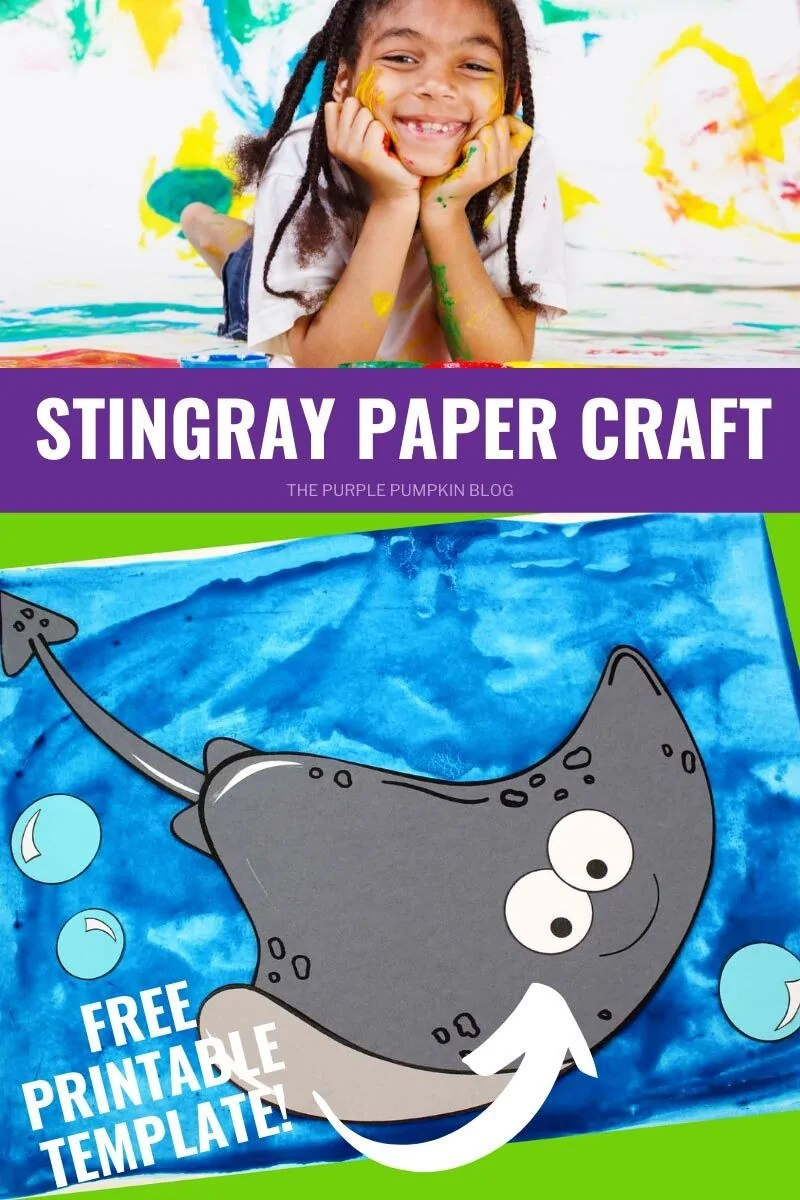 Stingray Paper Craft - Free Printable Template