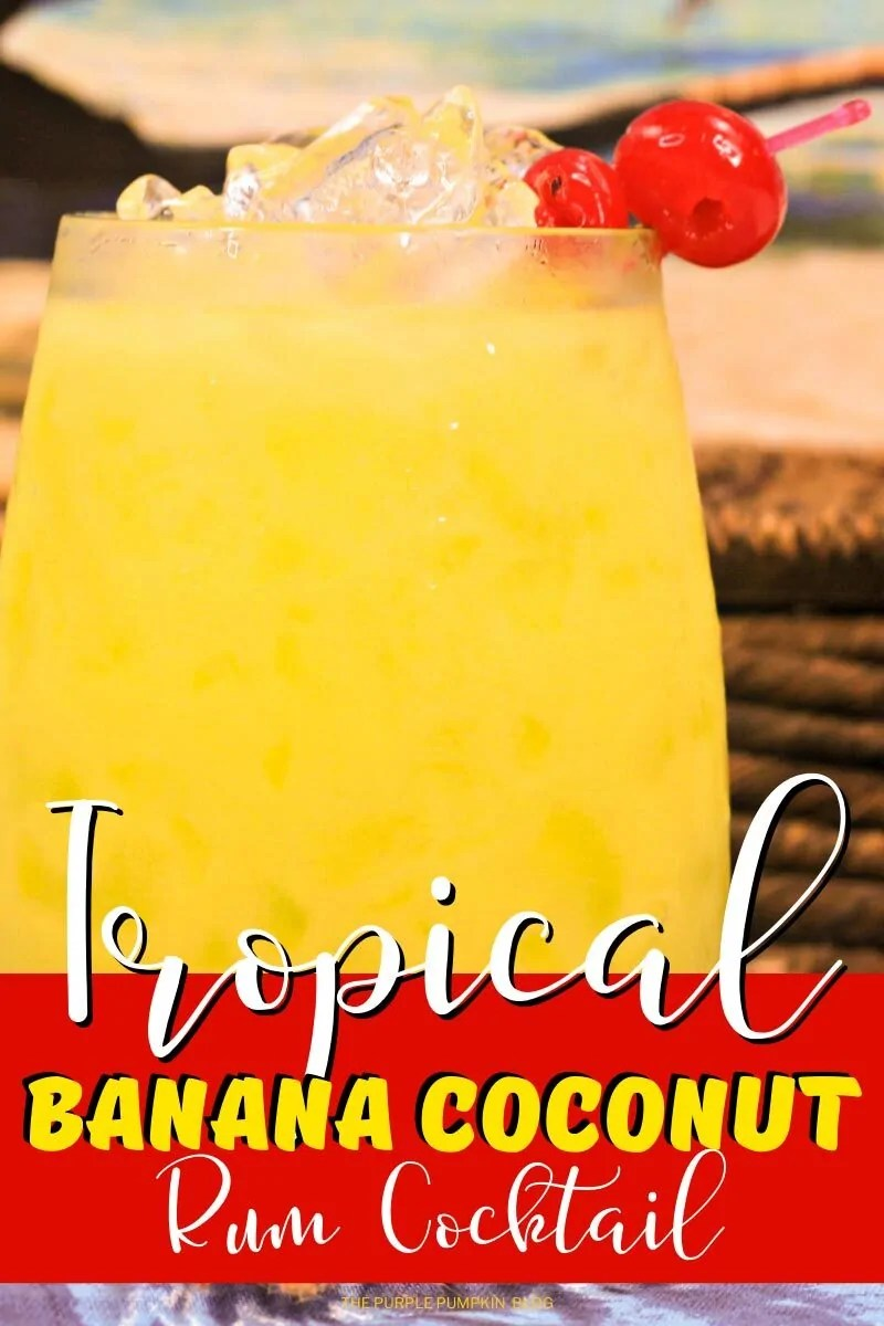 Tropical Banana Coconut Rum Cocktail