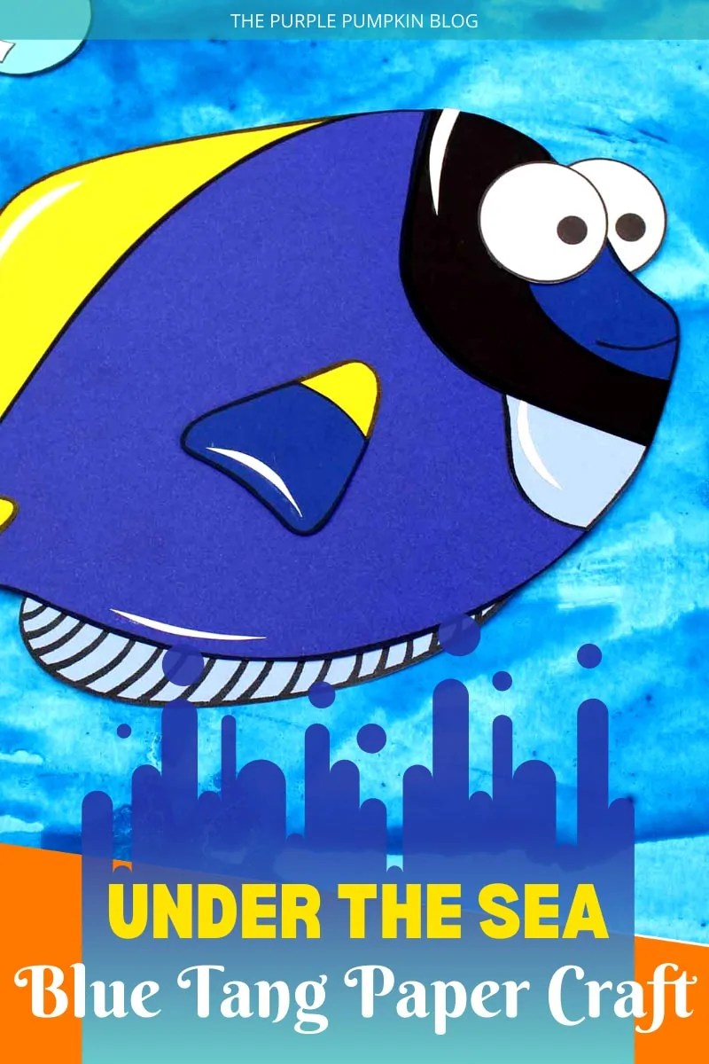 Under the Sea Blue Tang Paper Craft
