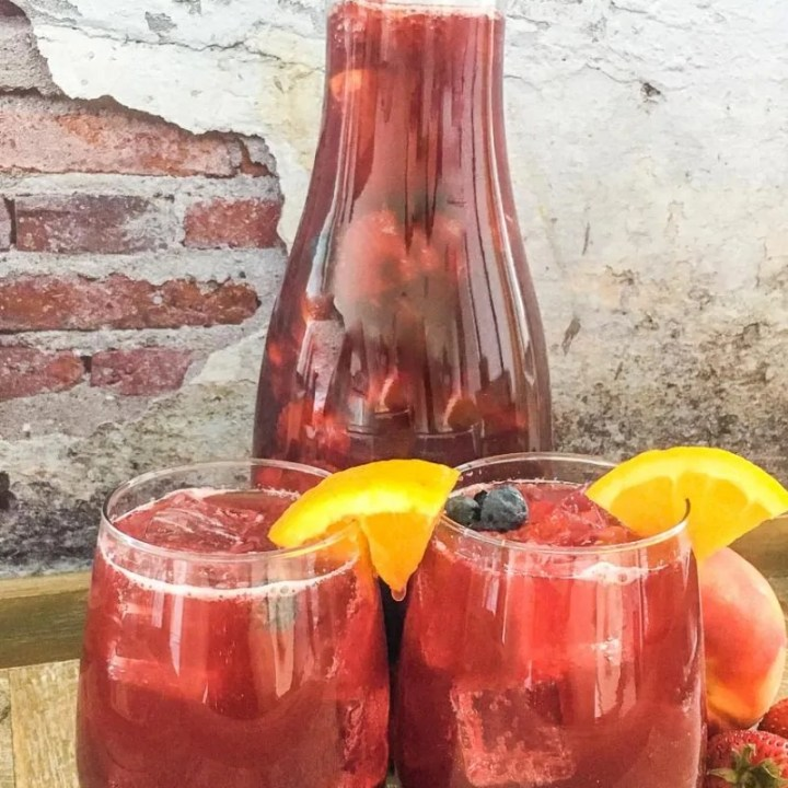Berry Peach No Alcohol Sangria