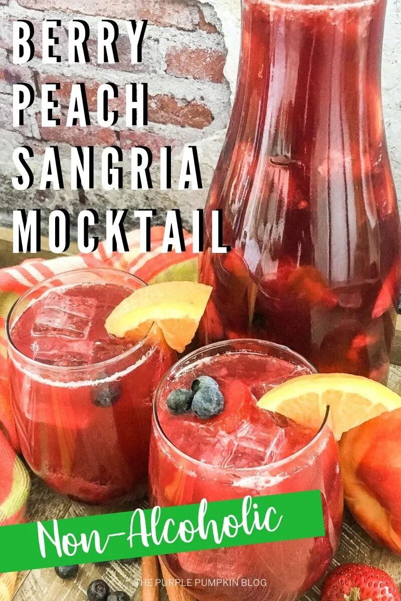 Berry Peach Sangria Mocktail - Non-Alcoholic
