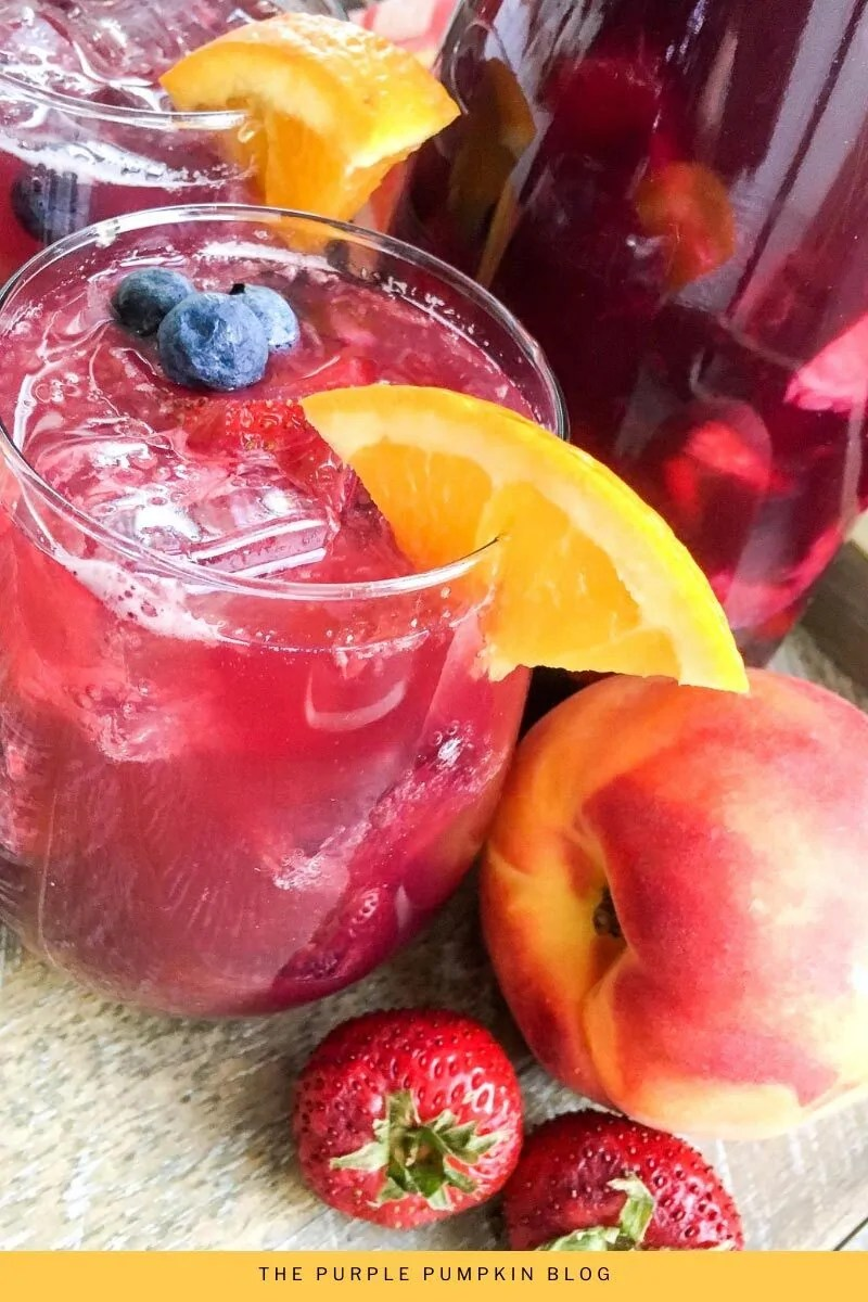 Berry Peach Virgin Sangria (No Alcohol)