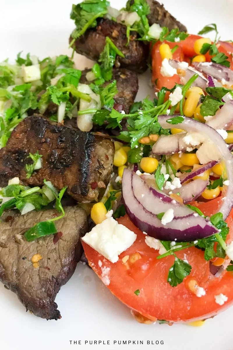 Churrasco Beef & Fresh Tomato Salad