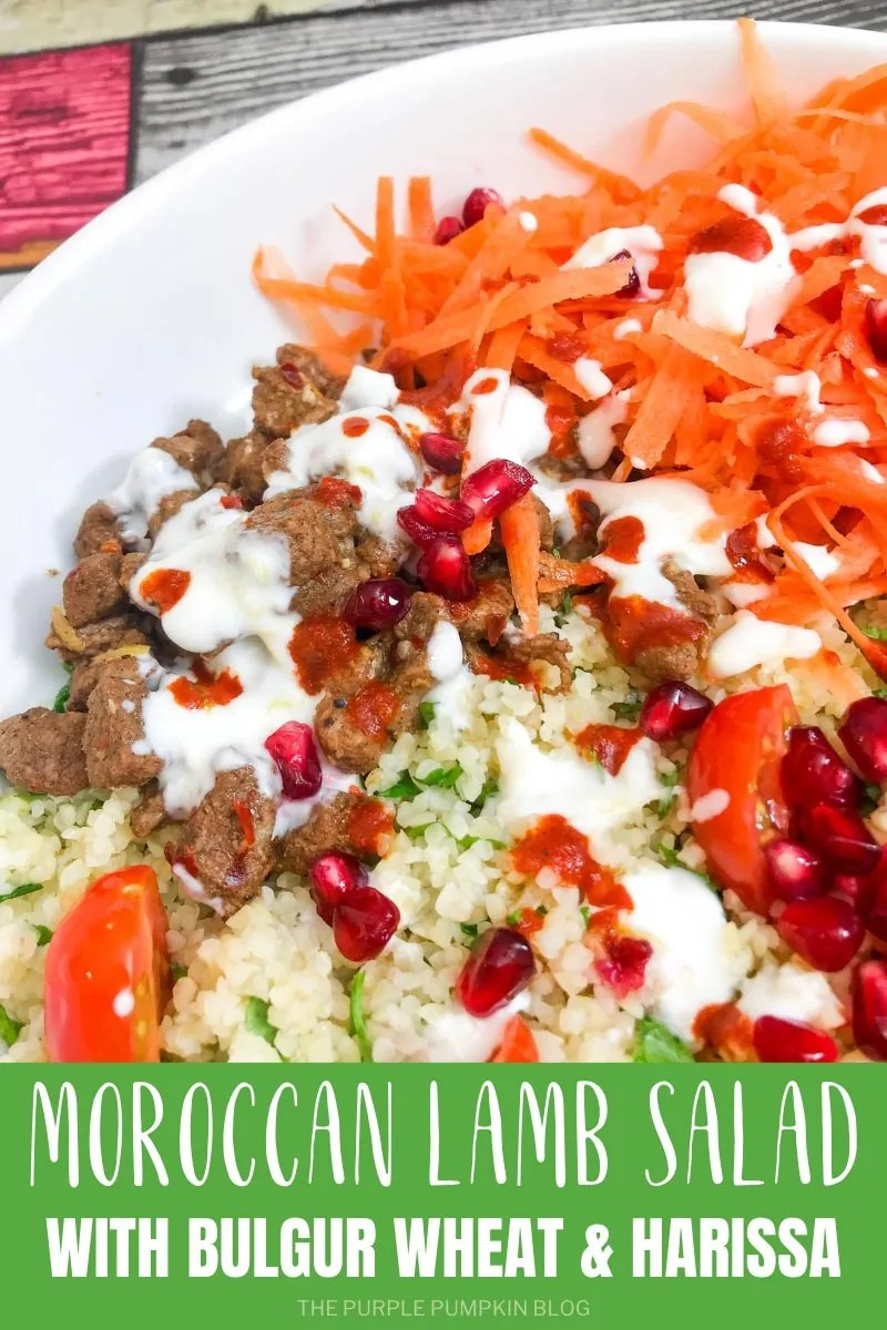 Moroccan Lamb Salad with Bulgur Wheat & Harissa