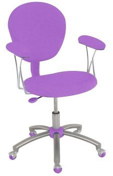 purple task chair leather office with lumbar support novimex fabric