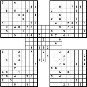 Play Samurai Sudoku Puzzles