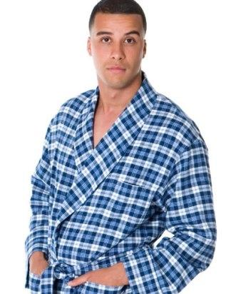 Blue Tartan Robe