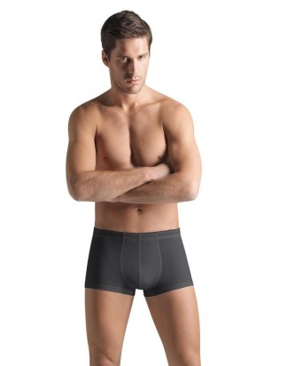Hanro COTTON BOXERS IN COAL GREY