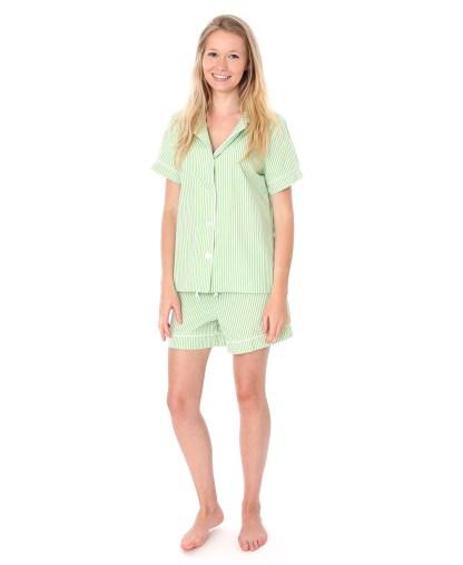 Green Stripe Shorties