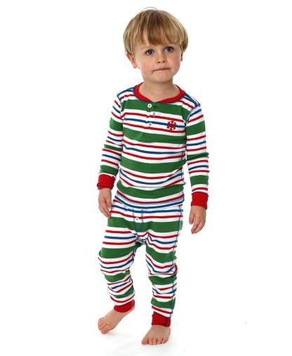 Hatley Boys Green Striped Pyjamas