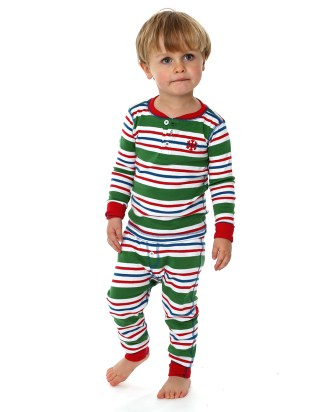 Hatley Boys Green Striped Pyjamas