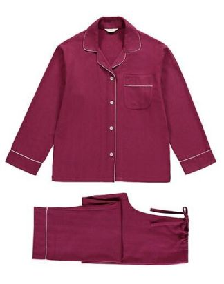 Mulled Wine Brushed Cotton PJ Set