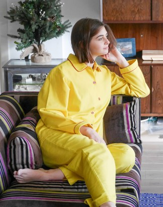 Women's Awesome Yellow with Red Piping Jim Jams