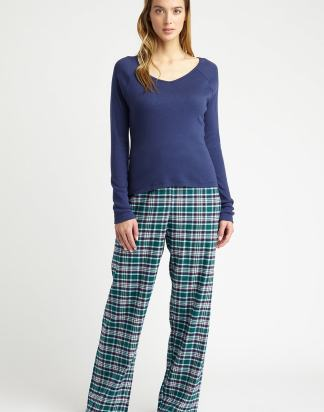 Purbeck Tartan Brushed Cotton PJ Bottoms