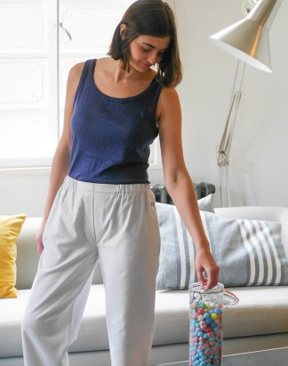 Jimbles Women's  Fine Grey Brushed Cotton PJ Bottoms