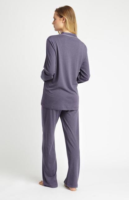 Slate Grey Jersey Pyjamas