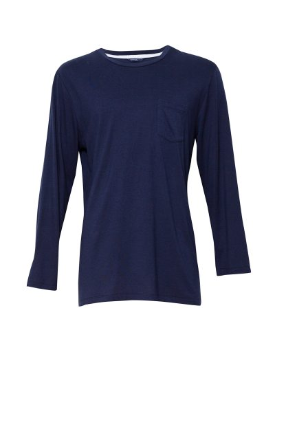 Men's Harper Navy Blue Cotton Long Sleeve Pyjama Top