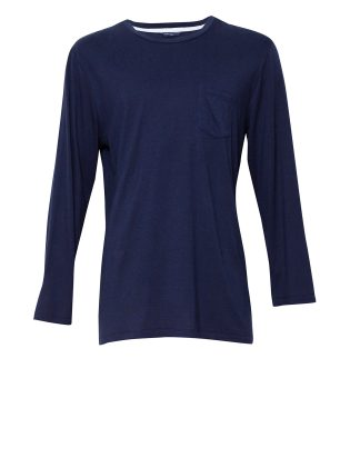 Men's Harper Navy Blue Cotton Long Sleeve Pyjama Top
