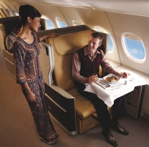 Singapore Airlines' Business class seat