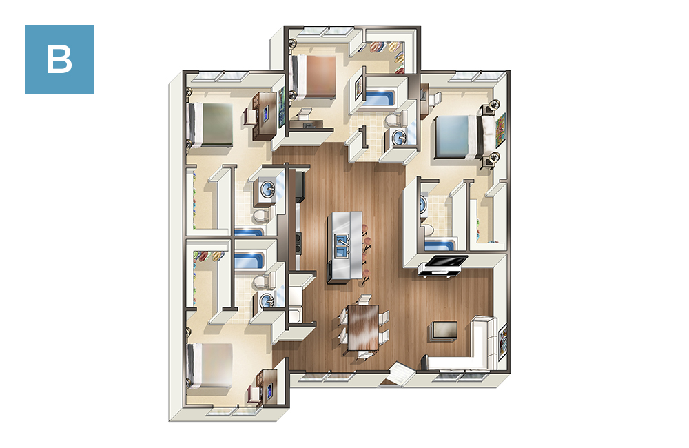 Apartments at The Quarters at Mankato  The Quarters Mankato