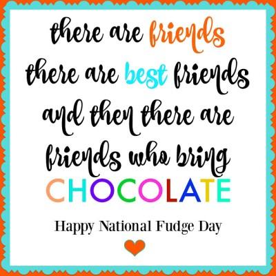 National Fudge Day + Printable