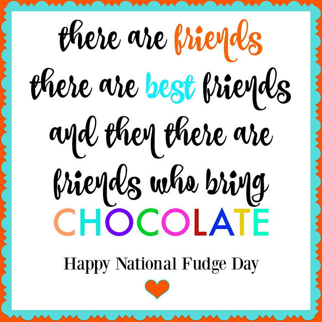 National Fudge Day + Printable