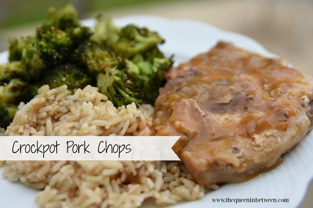 Crockpot Pork Chops - The Queen in Between