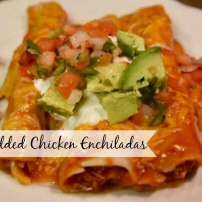 Shredded Chicken Enchiladas