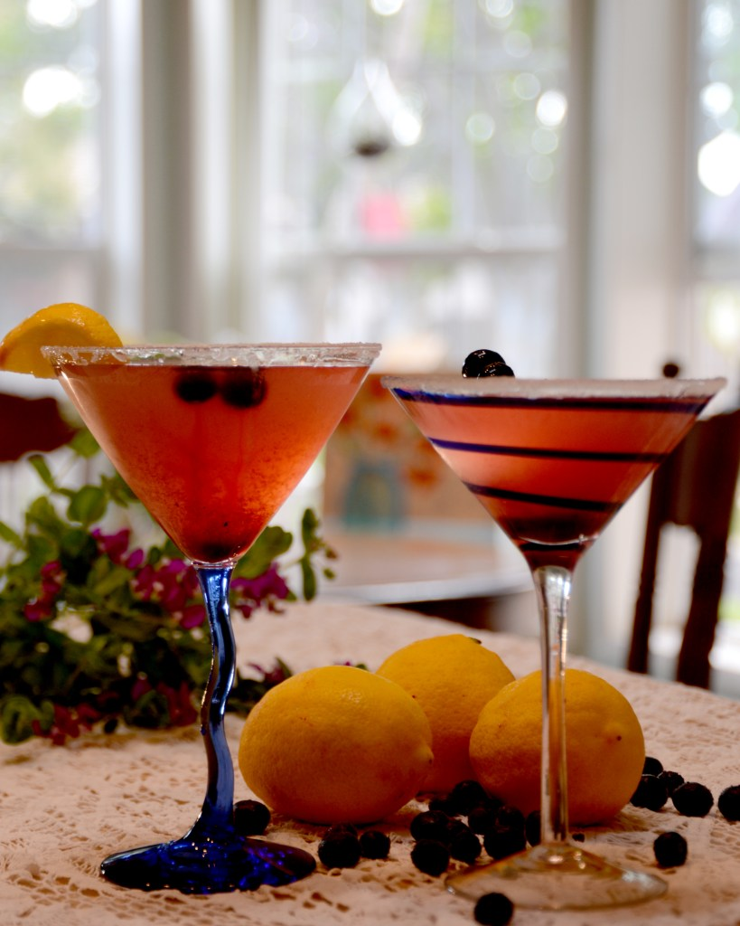 Blueberry Lemondrop Martinis