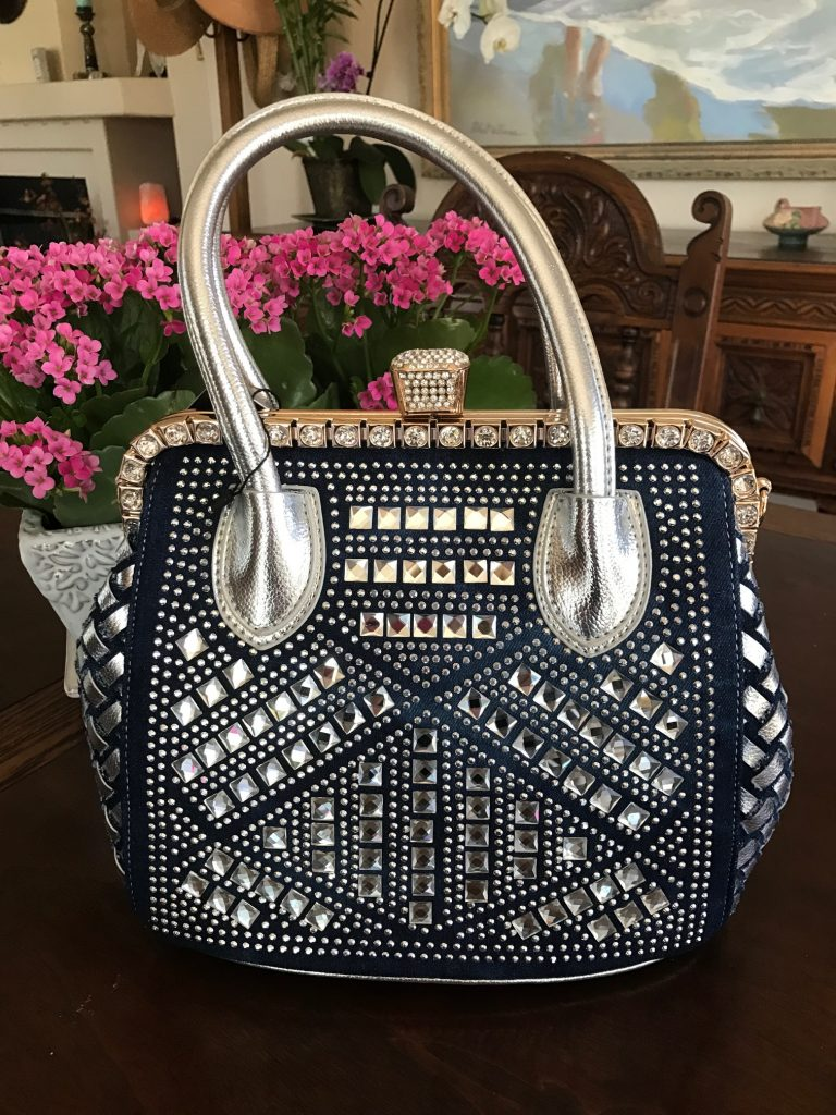 Denim & Silver handbag