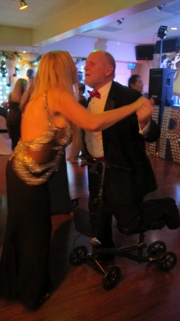 Don & Patti dancing when Don's foot was broken!