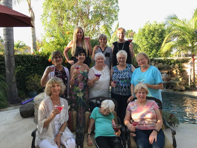 A toast to you! My Bunko Ladies Enjoying The Berry Delicious Martini