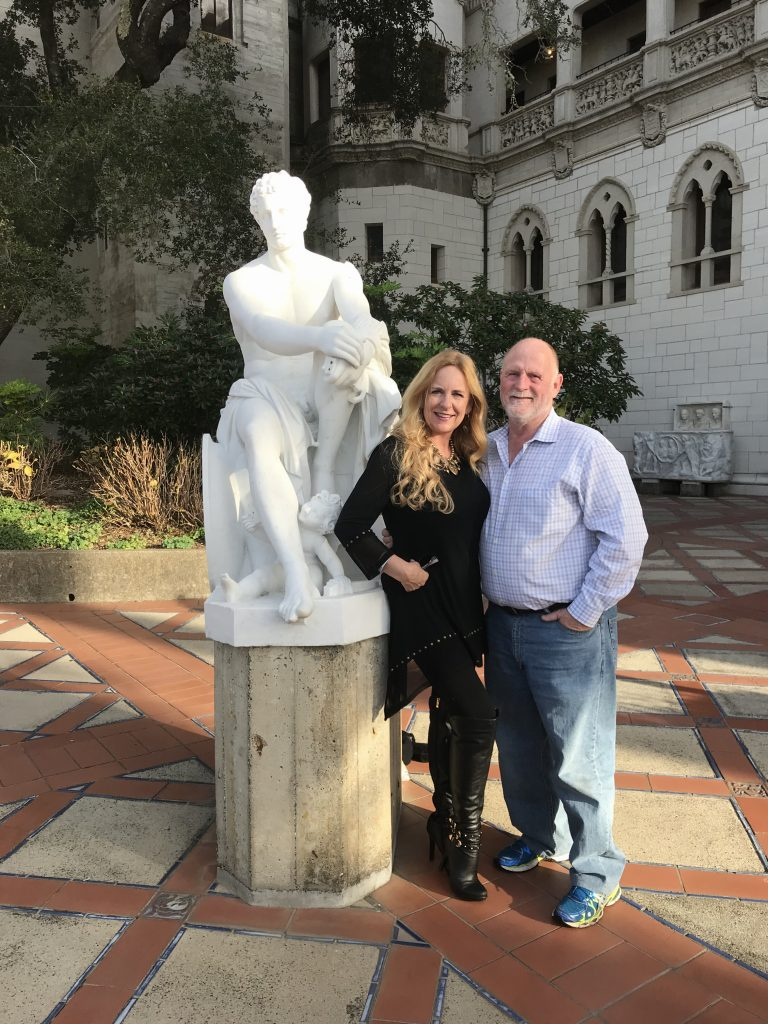 Don and Me at Hearst Castle. We ended up touring it for over 2 days, we enjoyed it so much!