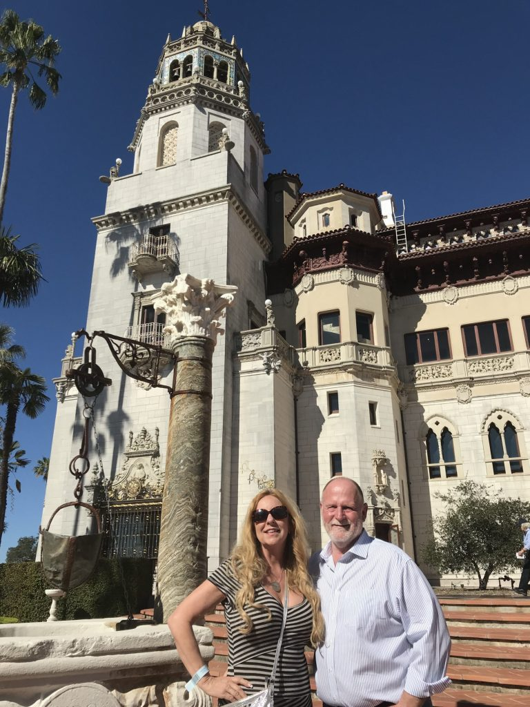 In front of Hearst Castle. I can only imagine how exciting it would have been to be a guest there back in the day!