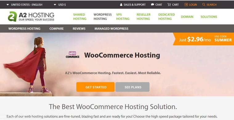 A2 Hosting - Best Woocommerce Hosting