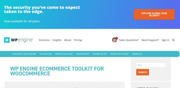 Wp Engine - Best WooCommerce Hosting