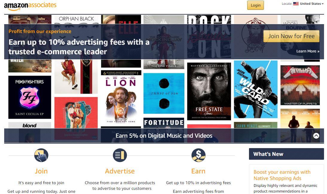 Amazon Affiliate Program or Amazon Associates