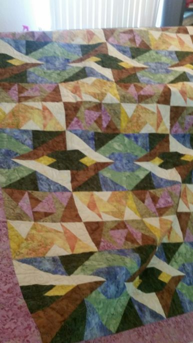 batik mystery quilt - come dance with me panto, omni thread
