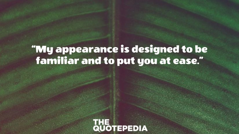 """""""My appearance is designed to be familiar and to put you at ease."""""""