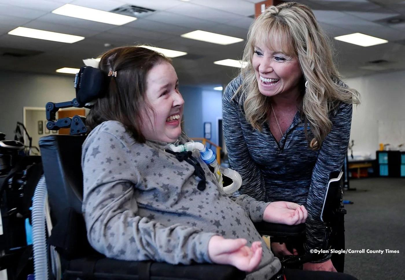 Therafit Rehab Gina Della Sarah O'Keefe Photo Copyright Dylan Slagle Carroll County Times
