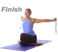 Yoga Hip openershoulder opener with the straps
