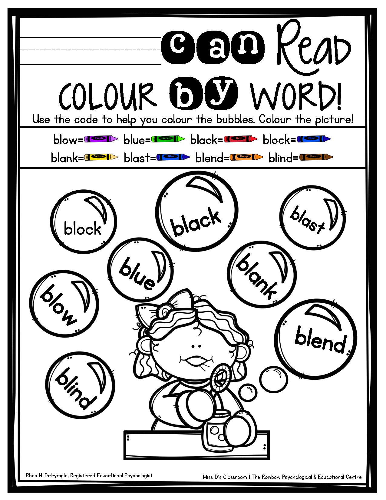 F U N Consonant Blends For Kids L Blends The Rainbow