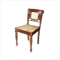 Bombay Cane Back Side Chair,British ,Colonial ,Burma ,Teak ...