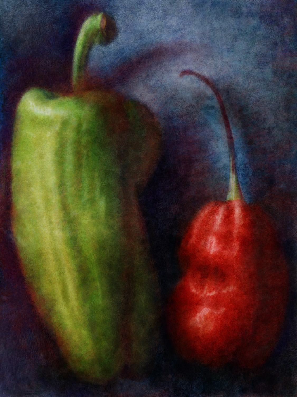 Food Art The Many Colors of Chile Peppers food paintings