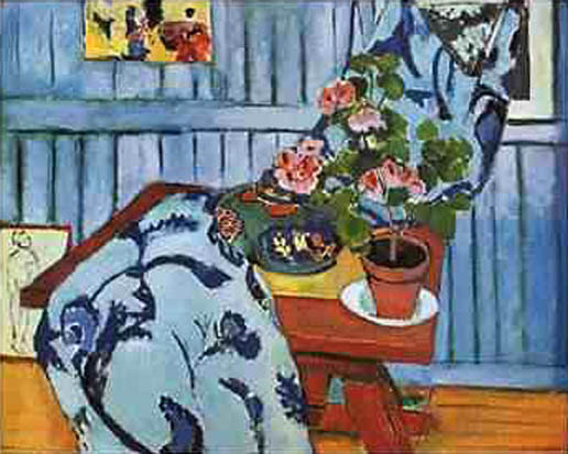 Still Life with Geraniums, by Henri Matisse